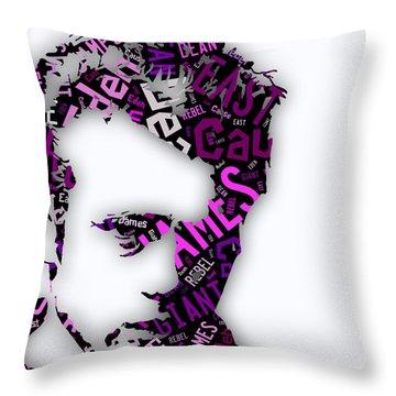 James Dean Movie Titles Throw Pillow