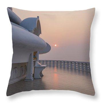 Japanese Peace Pagoda - Sri Lanka Throw Pillow