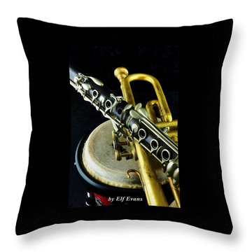 Jazz Throw Pillow by Elf Evans
