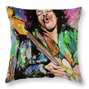 Jimi Hendrix Throw Pillow by Richard Day