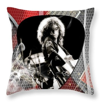 Jimmy Page Art Throw Pillow
