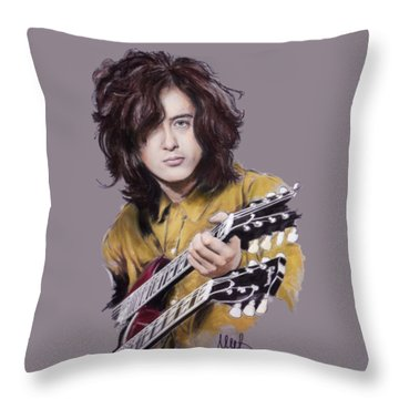 Jimmy Page Throw Pillow by Melanie D