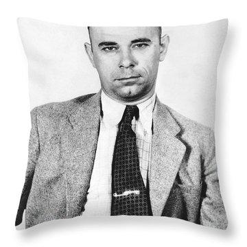 John Dillinger 1903-1934 Throw Pillow by Granger