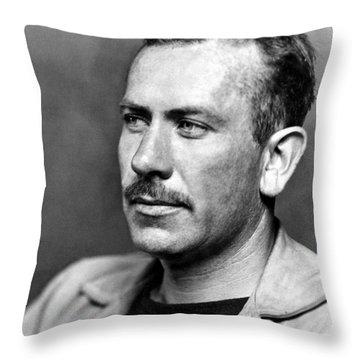 John Steinbeck (1902-1968) Throw Pillow by Granger