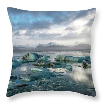 Jokulsarlon, The Glacier Lagoon, Iceland 3 Throw Pillow