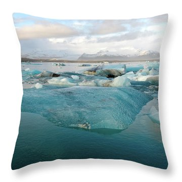 Jokulsarlon The Glacier Lagoon, Iceland 2 Throw Pillow