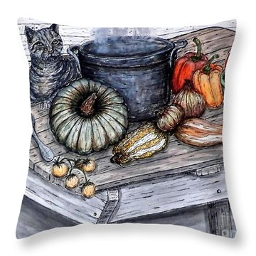 Just Curious Throw Pillow