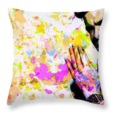 Kaka Throw Pillow by Svelby Art