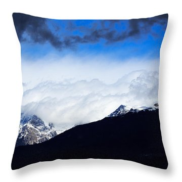 Throw Pillow featuring the photograph Kamnik Alps by Ian Middleton