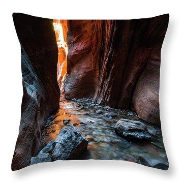 Kanarra Slot Canyon Throw Pillow