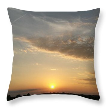Kansas Sunset Throw Pillow by Dustin Soph