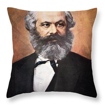 Karl Marx Throw Pillow
