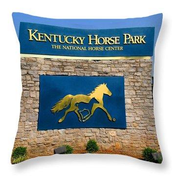 Kentucky Horse Park Throw Pillow