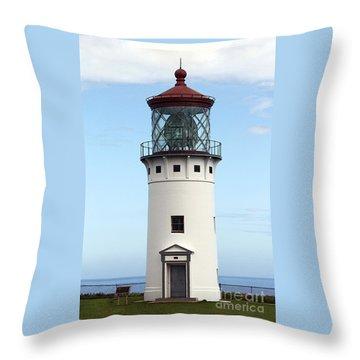 Kilauea Lighthouse On Kauai Throw Pillow