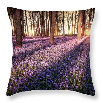 Kingswood Bluebells Throw Pillow
