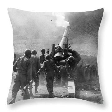 Korean War: Artillery Throw Pillow by Granger