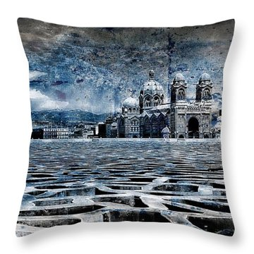 La Major Vue Des Dentelles Du Mucem Throw Pillow
