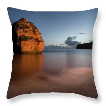 Ladram Bay In Devon Throw Pillow