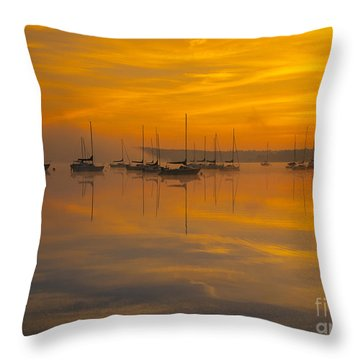 Lake Massabesic - Auburn New Hampshire Usa Throw Pillow by Erin Paul Donovan