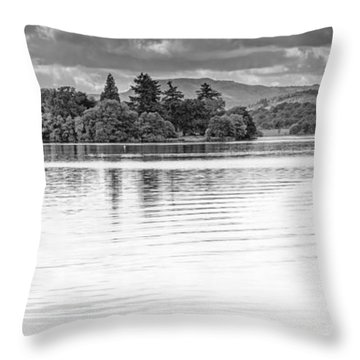 Lake Of Menteith Throw Pillow