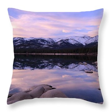 Lake Tahoe Rocks  Throw Pillow