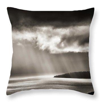 Lake Tahoe Storm Throw Pillow