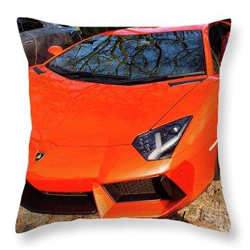 Lamborghini Aventador Throw Pillow