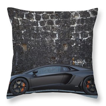 Throw Pillow featuring the photograph #lamborghini #aventador  by ItzKirb Photography