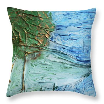Landscape Throw Pillow by Angela Stout
