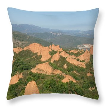 Las Medulas Throw Pillow