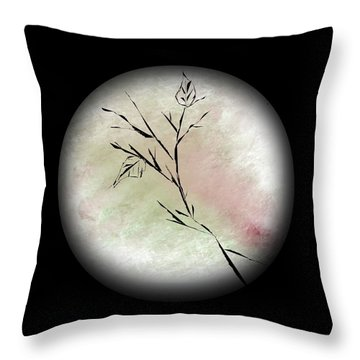 2 Leaves Throw Pillow