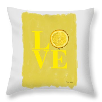 Citrus Throw Pillows
