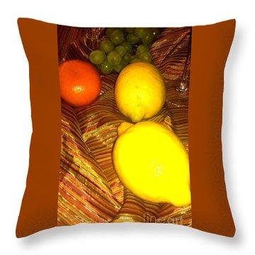 2 Lemons Throw Pillow
