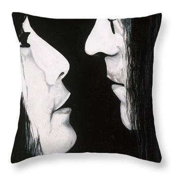 Lennon And Yoko Throw Pillow