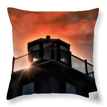 Lighthouse Throw Pillow by Allen Beilschmidt