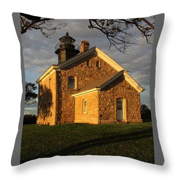 Lighthouse Old Field Point New York Throw Pillow