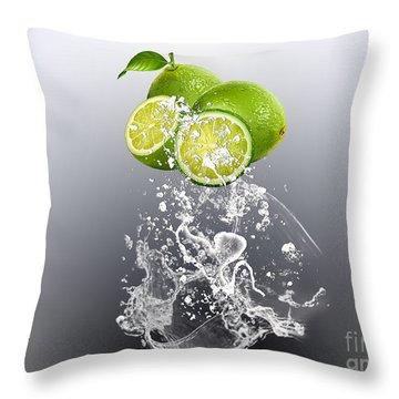 Lime Splash Throw Pillow