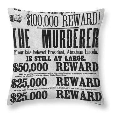Lincoln Assassination Throw Pillow by Granger
