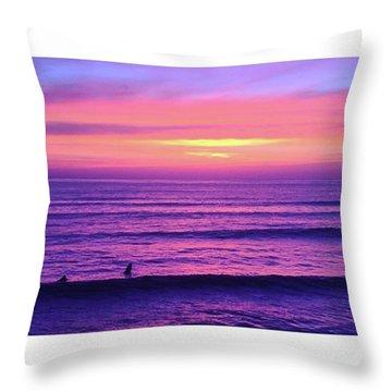 Living The Sunset Throw Pillow