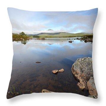 Loch Nah Achlaise Throw Pillow