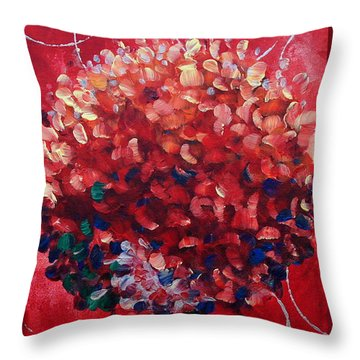 Lollipop Tree Red Throw Pillow