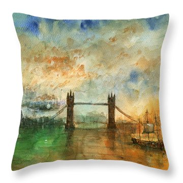Tower Bridge Throw Pillows