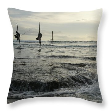 Throw Pillow featuring the photograph Long Beach Kogalla by Christian Zesewitz