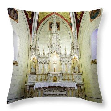 Loretto Chapel - Santa Fe - New Mexico Throw Pillow