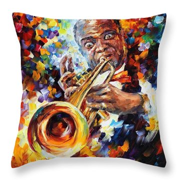 Louis Armstrong . Throw Pillow