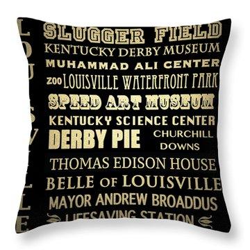 Louisville Famous Landmarks Throw Pillow
