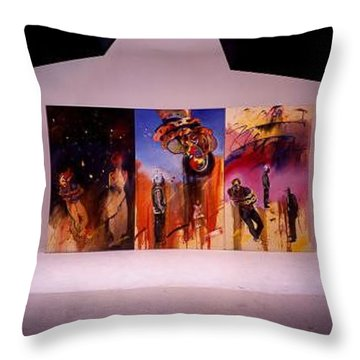 Throw Pillow featuring the painting Love Hurts by Charles Stuart