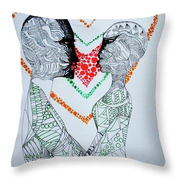 Love Is A Heart Throw Pillow
