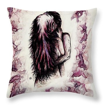 Lovers Throw Pillow by Rachel Christine Nowicki