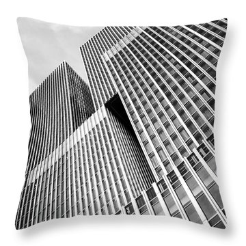 Low Angle View Of A Huge Skyscraper Throw Pillow